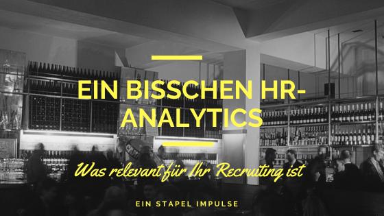 Ein bisschen HR Analytics